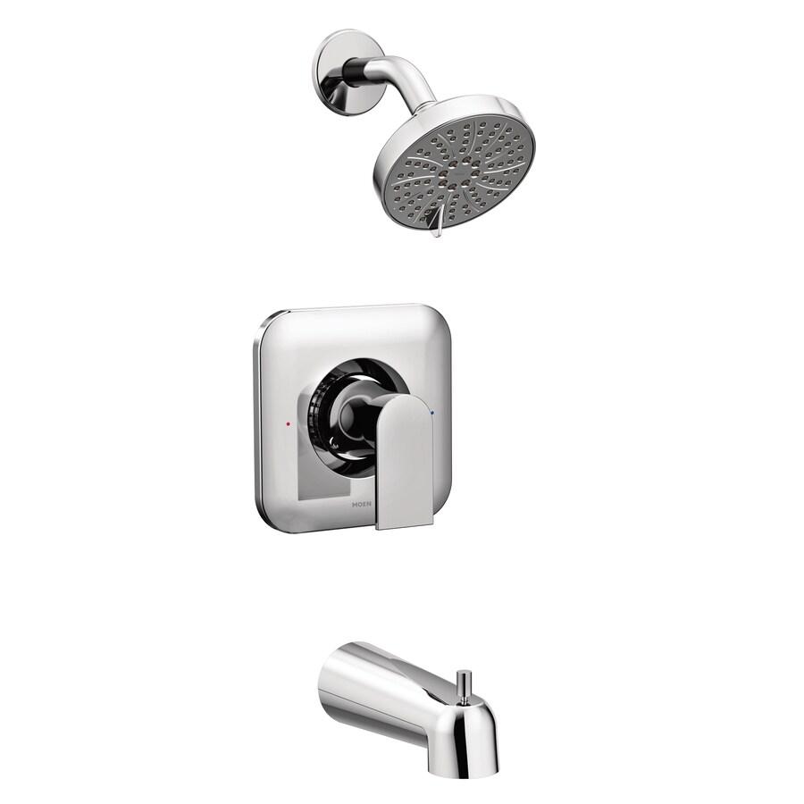 moen genta chrome 1 handle bathtub and shower faucet