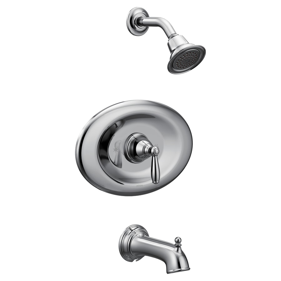 moen brantford chrome 1 handle bathtub and shower faucet in the shower faucets department at lowes com