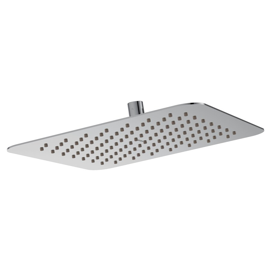 moen chrome 1 spray rain shower head 2 5 gpm 9 5 lpm in the shower heads department at lowes com