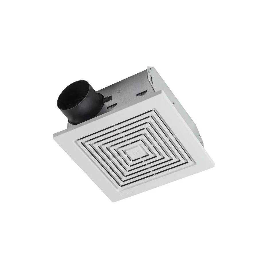 broan ceiling wall exhaust fan 5 5 sone 60 cfm white bathroom fan lowes com