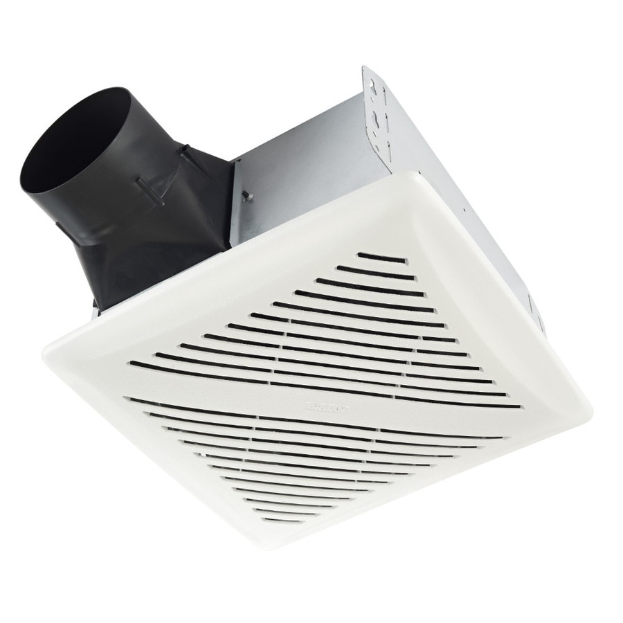 shop broan 2-sone 80-cfm white bathroom fan at lowes