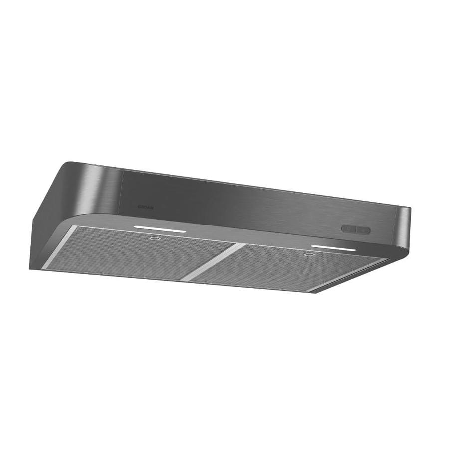 broan antero clda1 30 in convertible black stainless undercabinet range hood lowes com