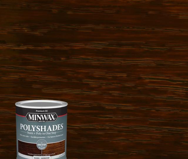 Minwax Polyshades Gloss Espresso Oil Based Interior Stain Actual Net Contents  Fl Oz