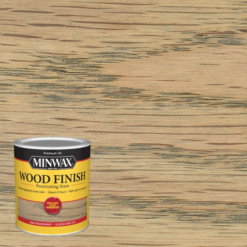 Minwax Wood Finish Classic Grey Oil Based Interior Stain Actual Net Contents 32