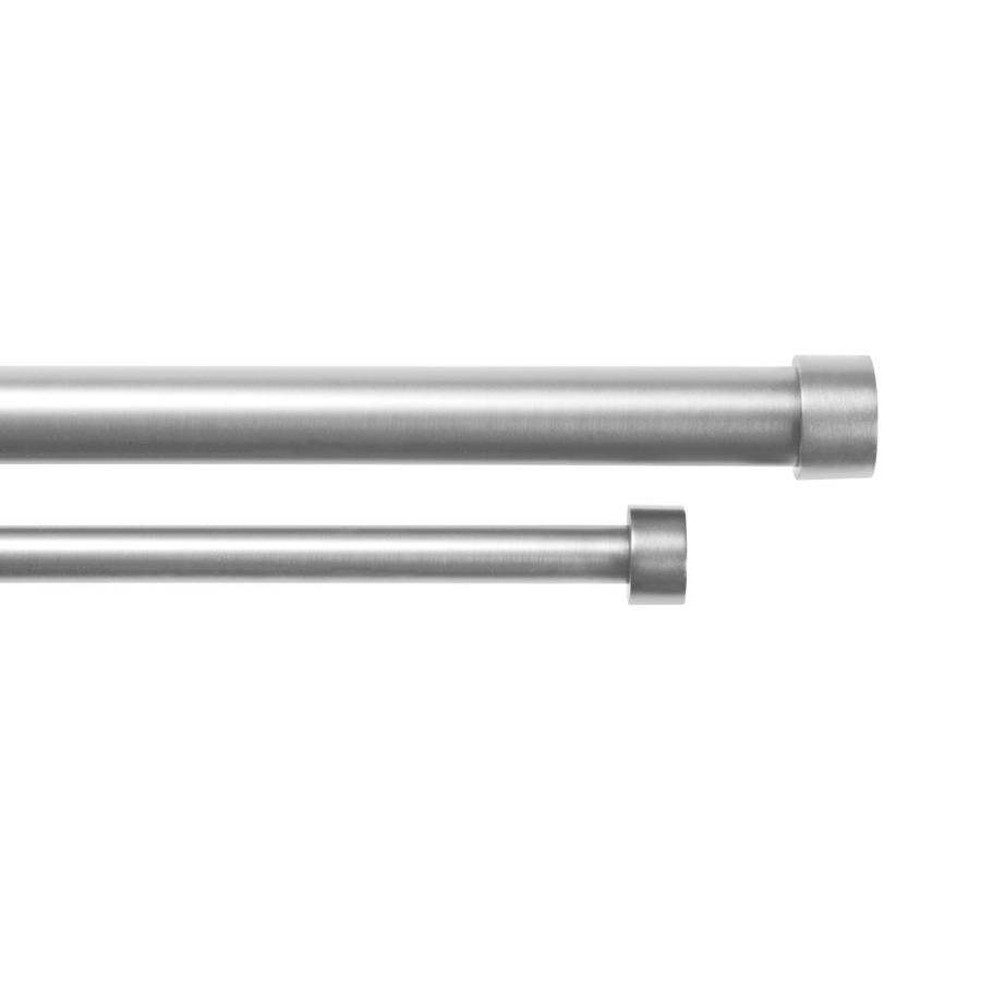 umbra cappa 72 in to 144 in nickel steel double curtain rod in the curtain rods department at lowes com