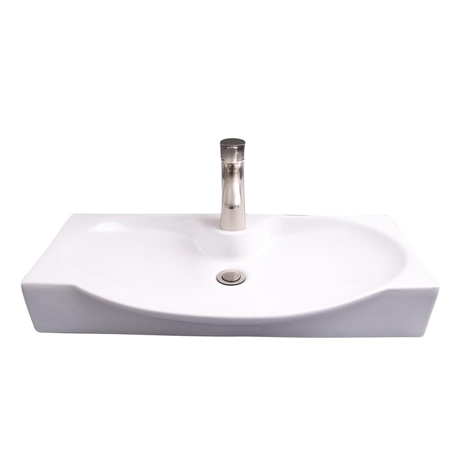 barclay wallace wall hung basin white wall mount rectangular bathroom sink 13 5 in x 27 37 in