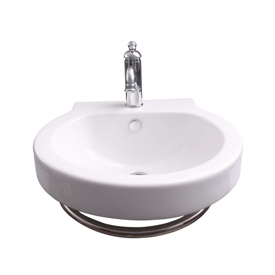 barclay bryant wall hung basin white