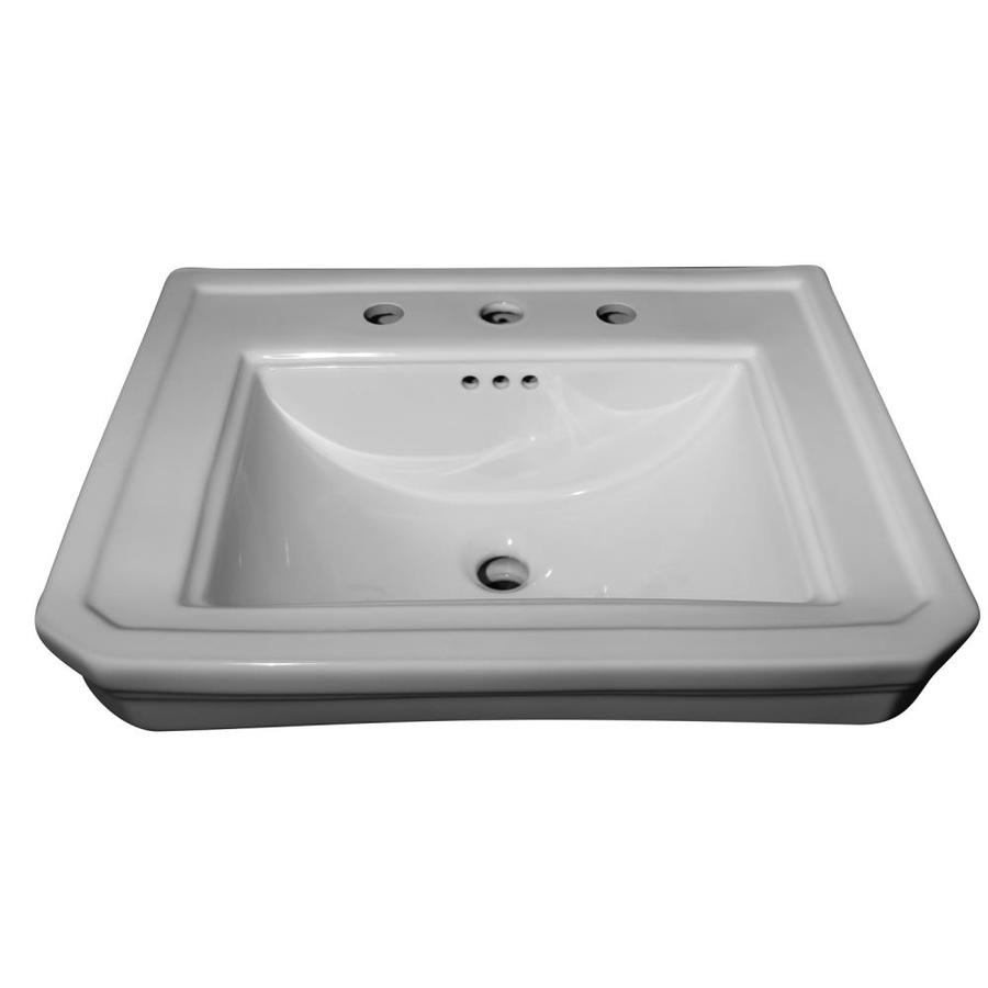 barclay drew 610 wall hung basin white wall mount rectangular bathroom sink with overflow drain 18 75 in x 24 12 in