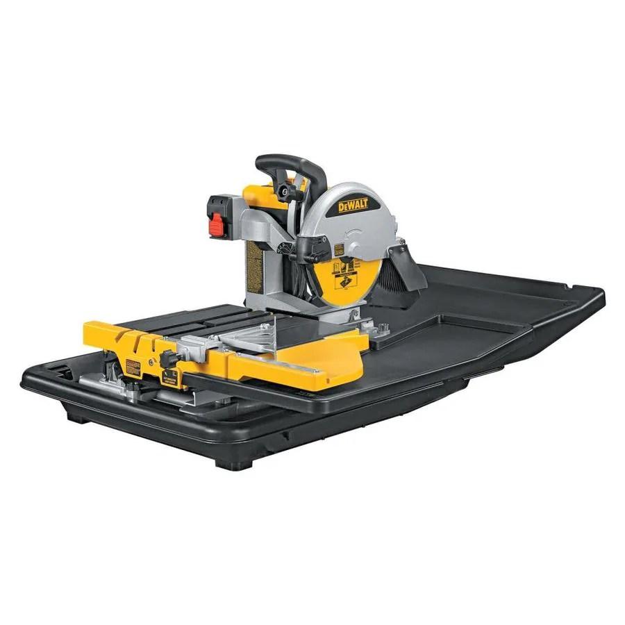 dewalt 10 in 15 amp wet tabletop sliding table tile saw