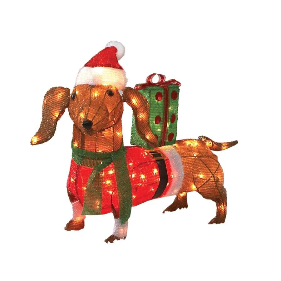 Shop Holiday Living 30 100 Light Soft Tinsel Sausage Dog