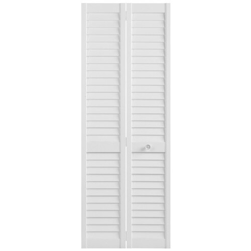 masonite bifold and closet doors white louver wood pine 29 5 White 30 X 79 Bifold Doors Interior Amp Closet id=39566