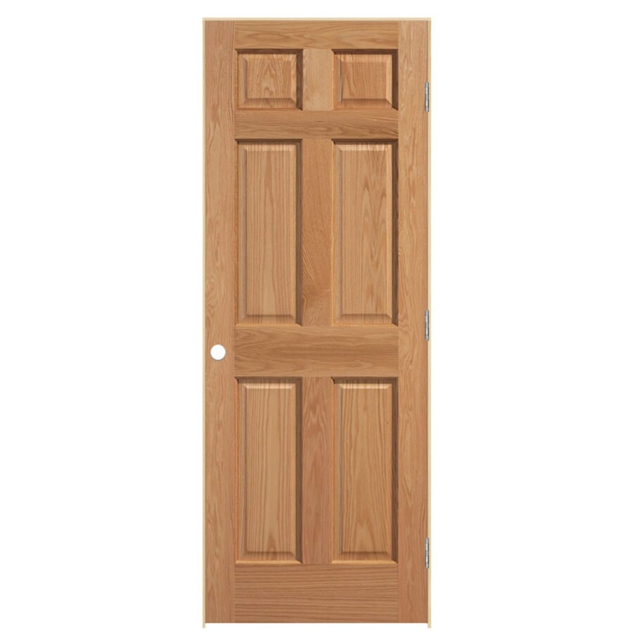 masonite prehung solid 6 panel oak interior door on Masonite 32 Inch X 80 Inch 6 Panel Textured Bifold Door id=52007