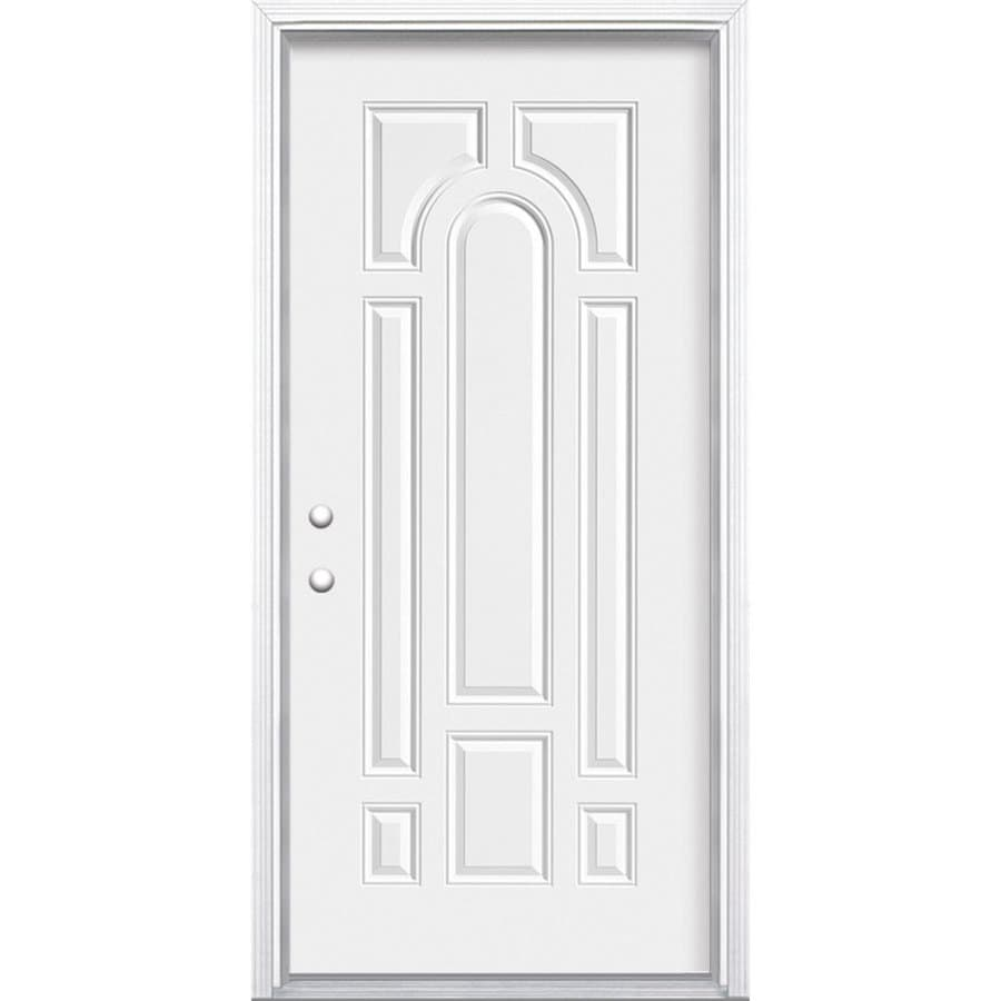 Masonite Right Hand Inswing Primed Steel Prehung Double Entry Door