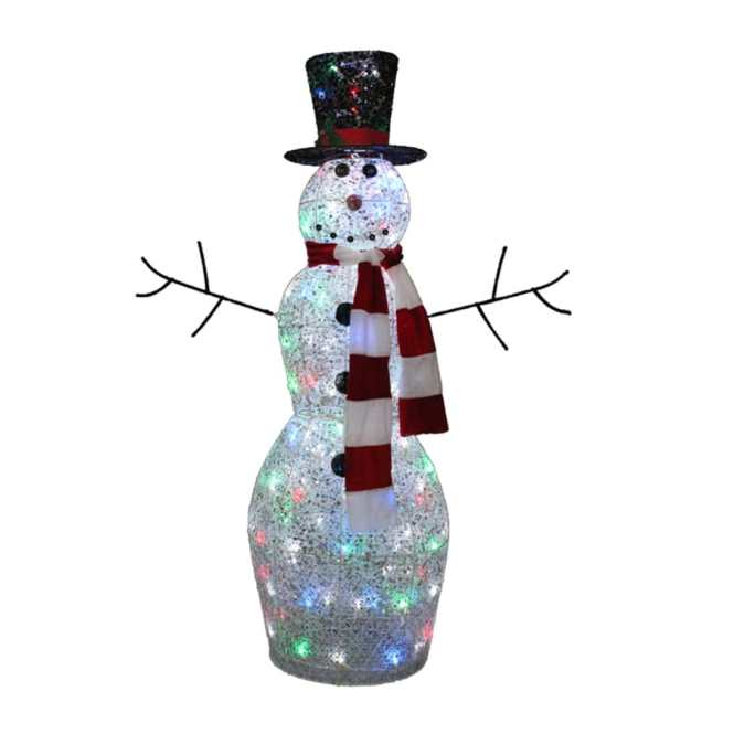 Main Image For Hand Crafted Large Wooden Indoor Outdoor Snowman
