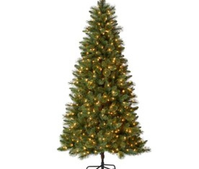 Holiday Living   Ft Pre Lit Lawndale Slim Artificial Christmas Tree With  Constant