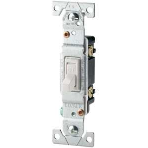 Eaton 15Amp Singlepole White Toggle Residential Light Switch at Lowes