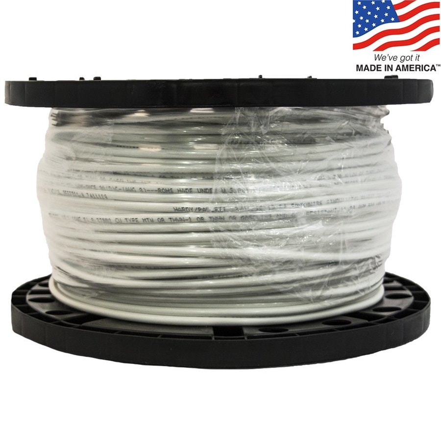 Nº 500-ft 8-AWG Stranded White Copper THHN Wire (By-the-Roll) - a322