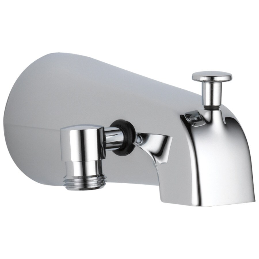 delta stainless steel bathtub spout with diverter