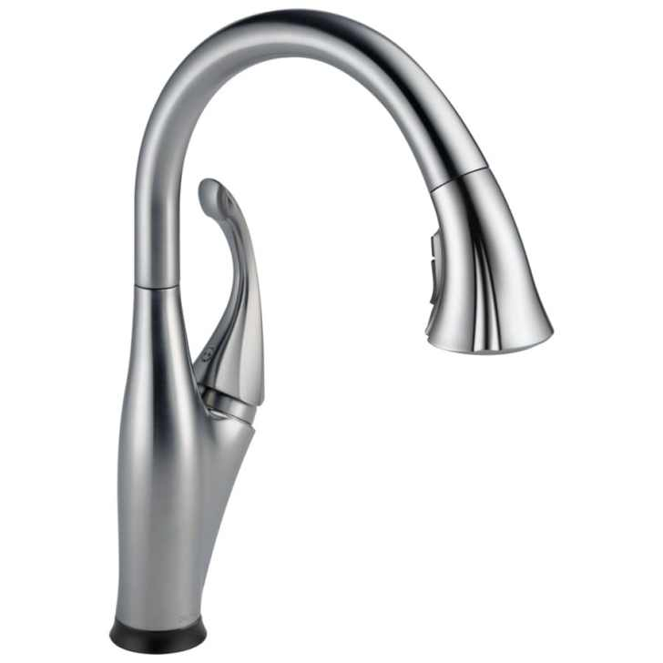 Touch2o Arctic Stainless Handle Pull Down Touch Kitchen Faucet