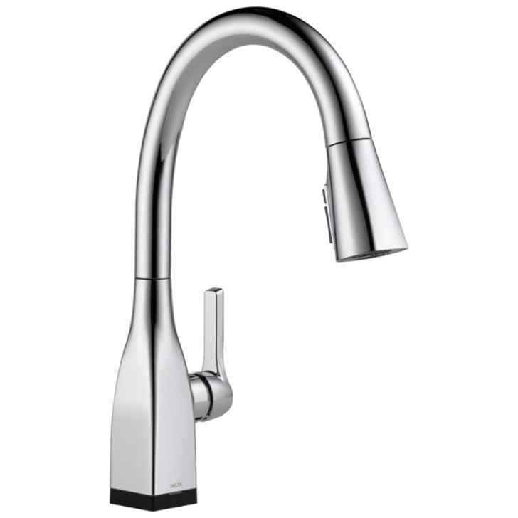 Touch2o Chrome Handle Pull Down Touch Kitchen Faucet