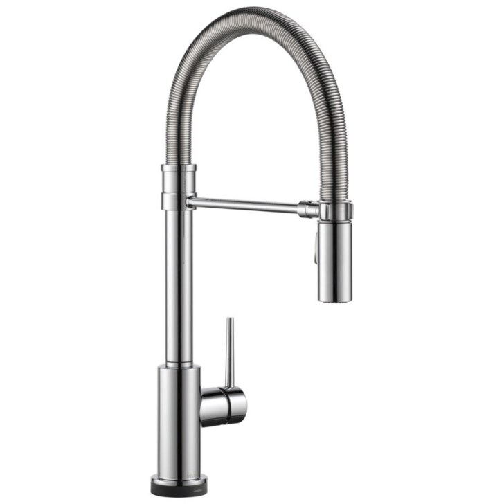Pro Chrome Handle Pull Down Touch Kitchen Faucet