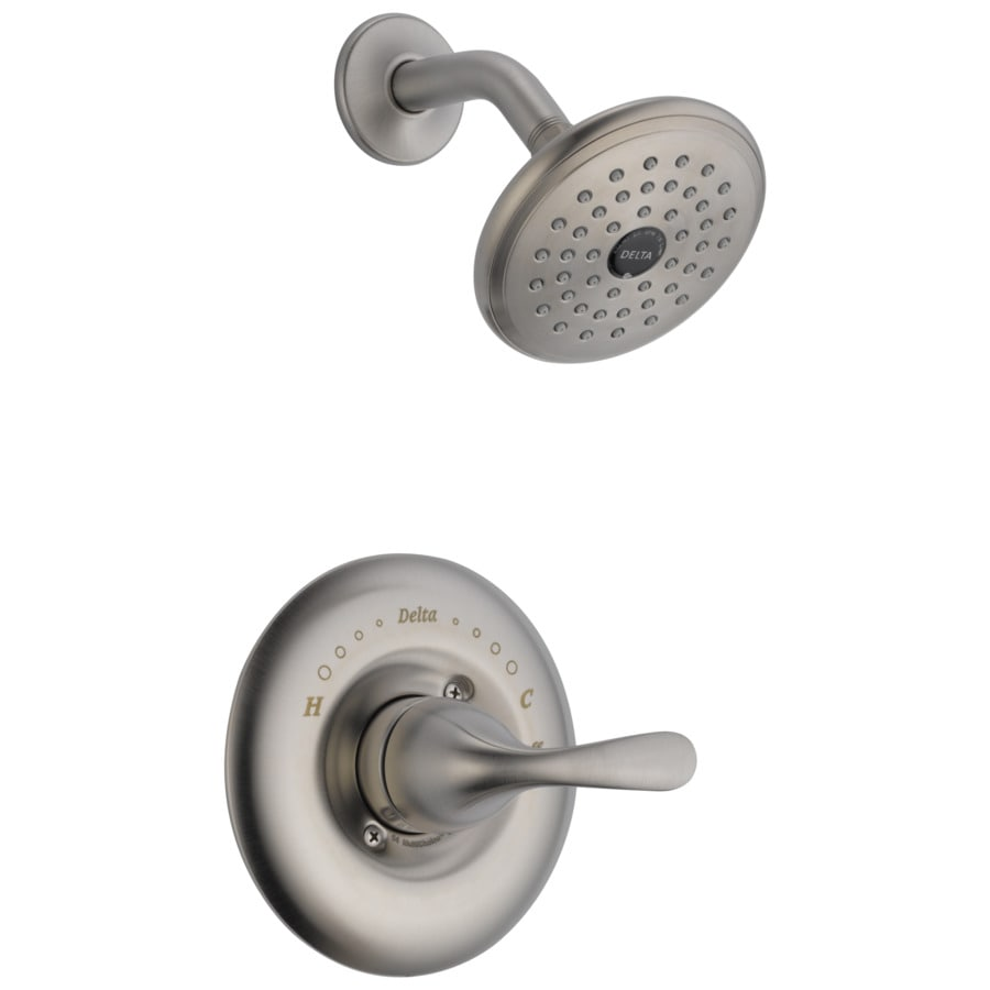 delta classic stainless 1 handle shower faucet with valve