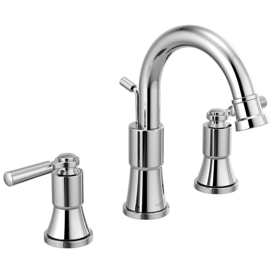 peerless westchester chrome 2 handle widespread watersense bathroom sink faucet with drain