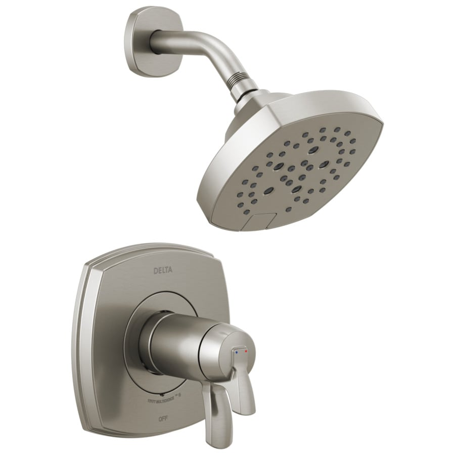 delta stryke stainless 2 handle shower faucet