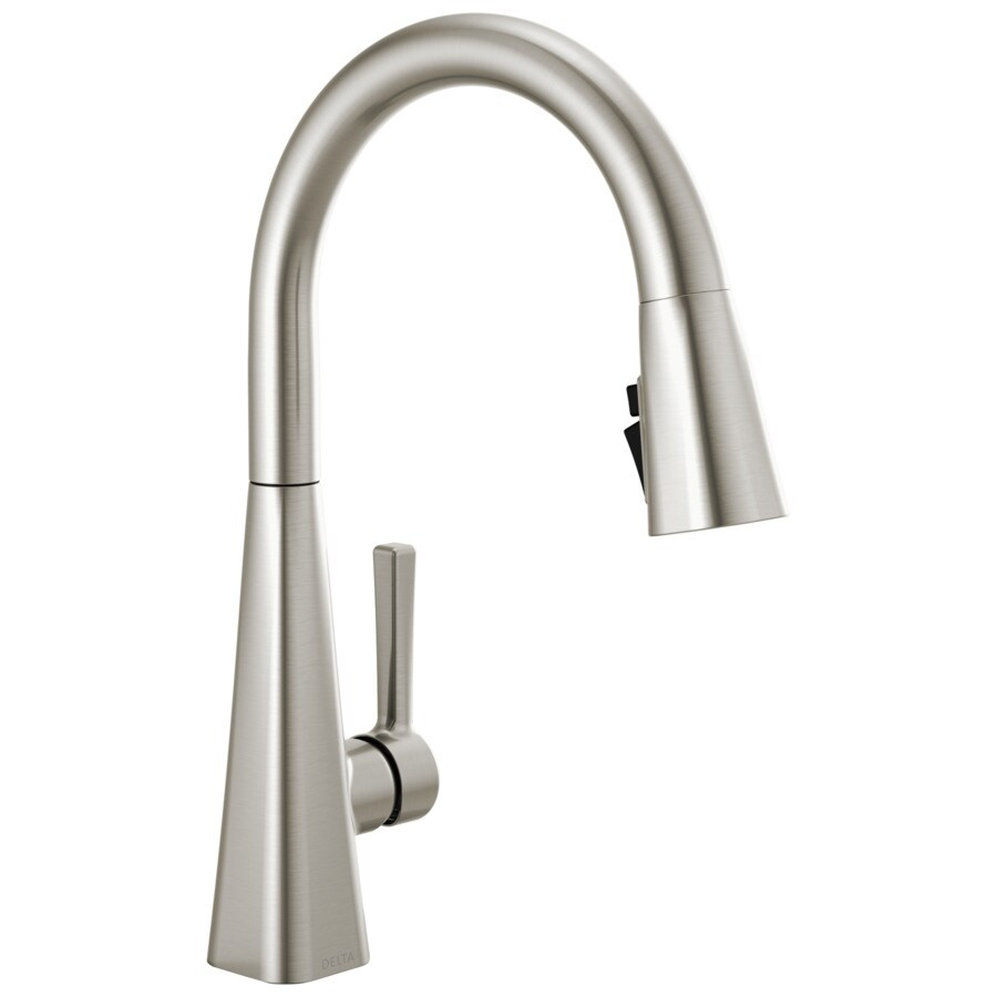 delta nickel kitchen faucets at lowes com