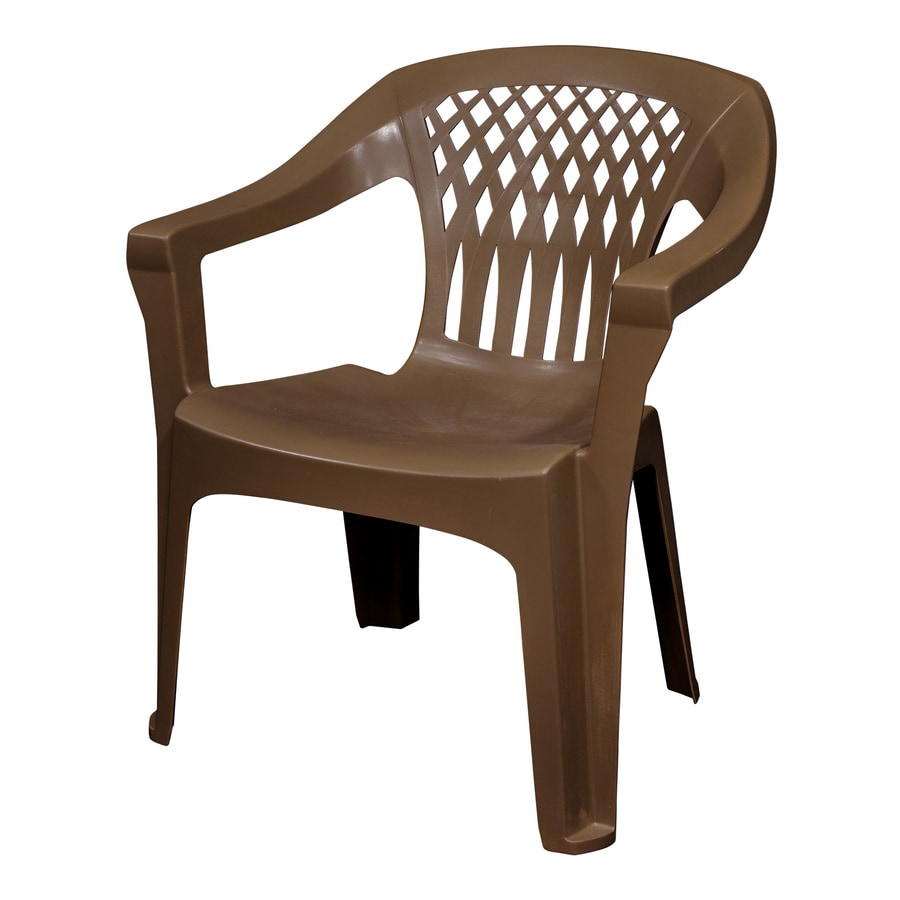adams manufacturing stackable earth brown plastic frame stationary dining chair s with solid seat lowes com