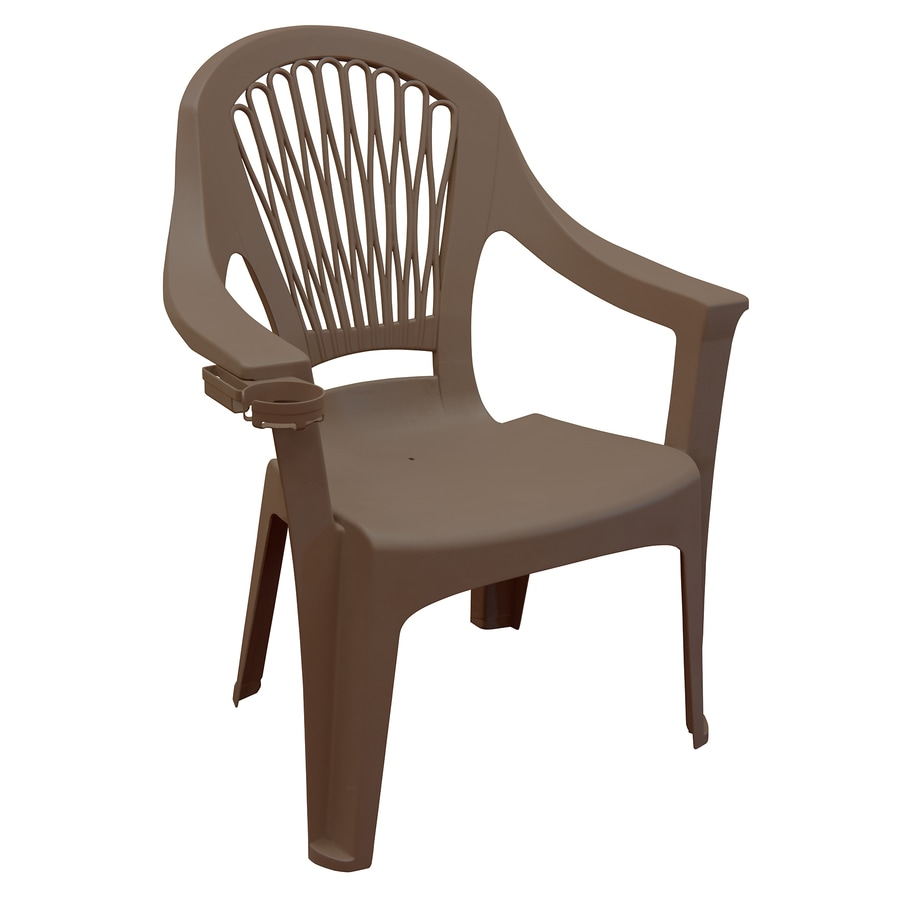 adams manufacturing stackable earth brown plastic frame stationary dining chair s with solid seat