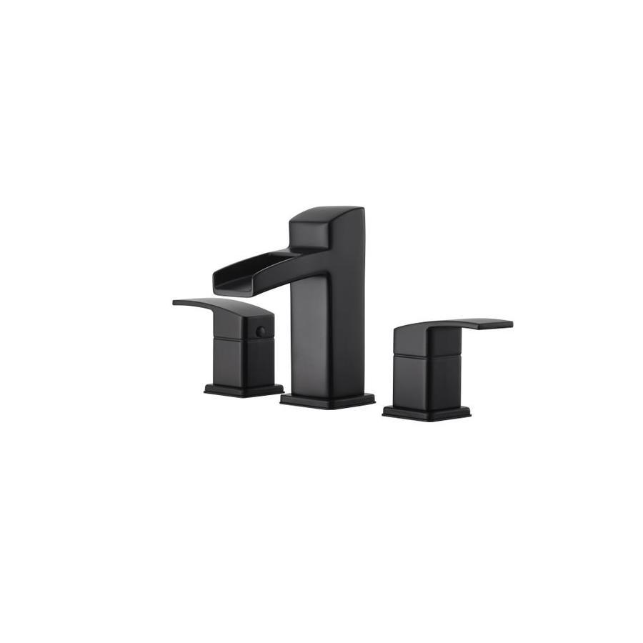 pfister kenzo black 2 handle widespread watersense bathroom sink faucet with drain