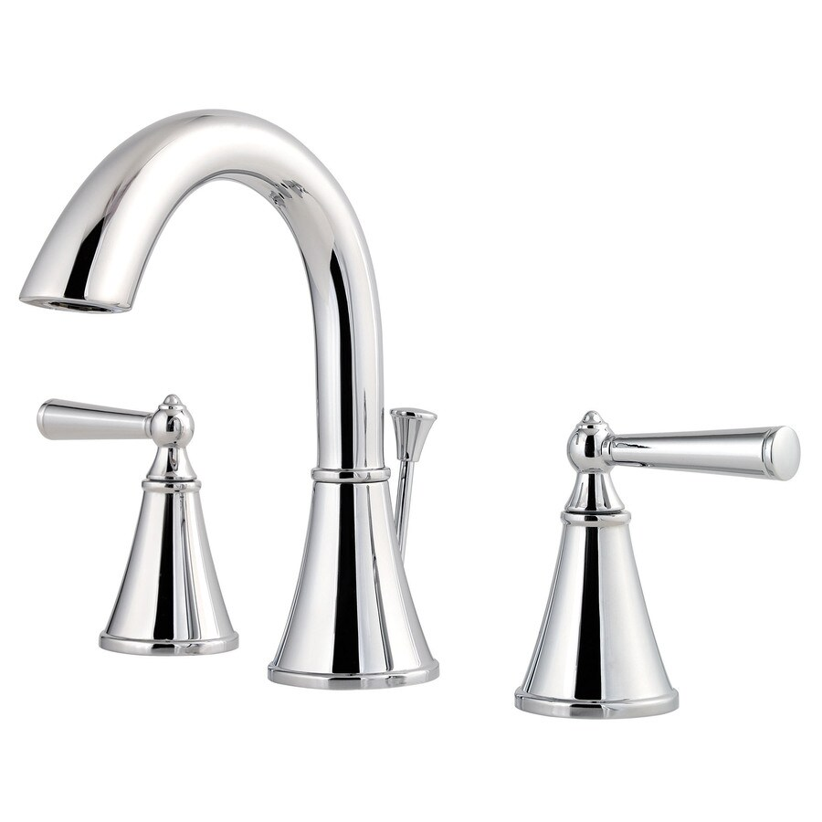 pfister saxton polished chrome 2 handle 8 in widespread watersense bathroom sink faucet with drain