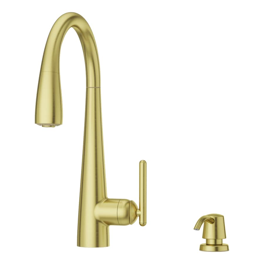 pfister gold kitchen faucets at lowes com