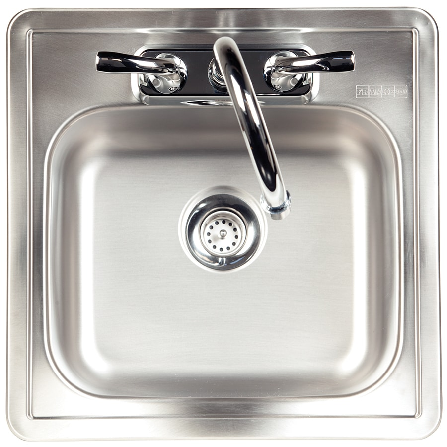 kindred essential 15 in l x 15 in w satin 2 hole stainless steel drop in commercial residential bar sink