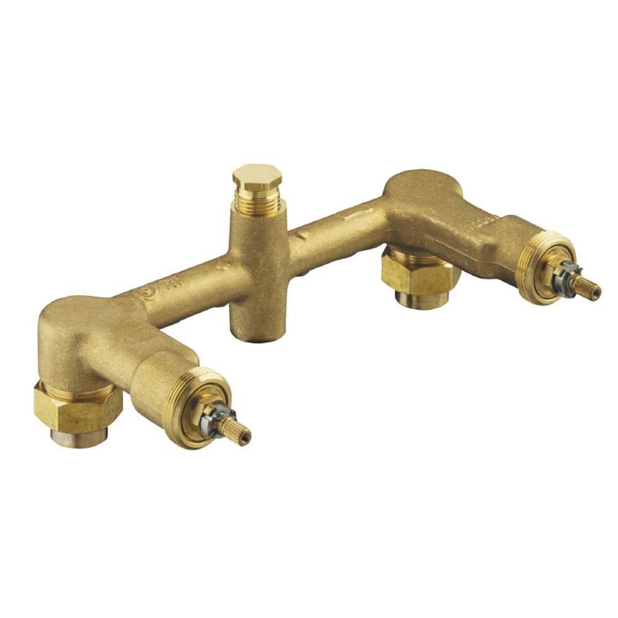 kohler 8 in l 1 2 in brass wall faucet valve