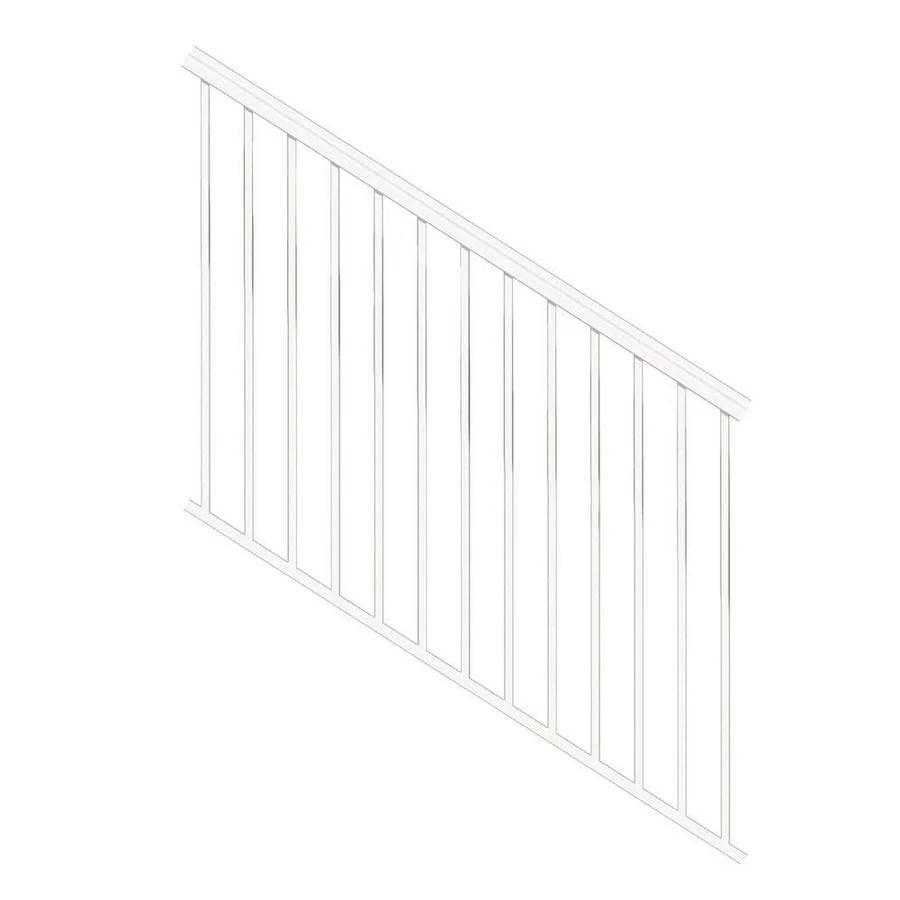 Freedom Versarail Stair White Aluminum Deck Stair Rail Kit With | Lowes Exterior Stair Railing | Composite Decking | Matte Black Aluminum Railing | Railing Systems | Metal | Porch