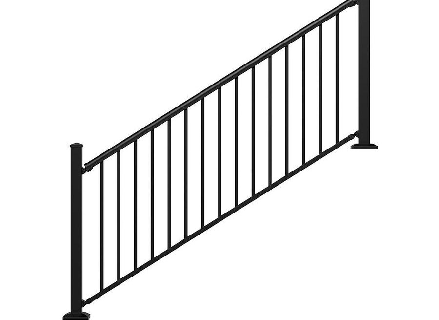 Stair Rail Deck Railing At Lowes Com | Handrails For Outdoor Steps | Plastic | Galvanized Steel | Solid Wood | Rail | Simple