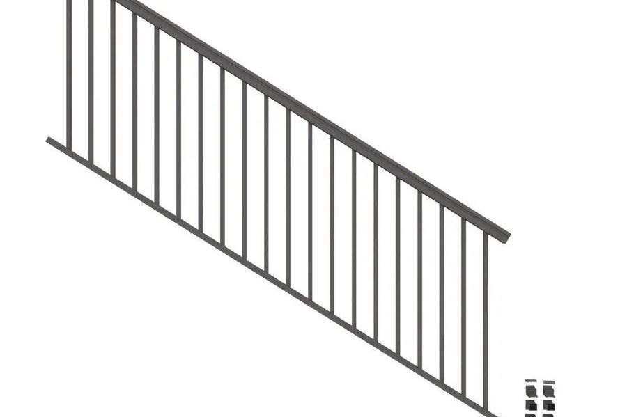 Stair Rail Deck Railing At Lowes Com | Metal Railings For Outdoor Steps | Railing Ideas | Front Porch Railings | Concrete Steps | Wrought Iron Railings | Railing Kits