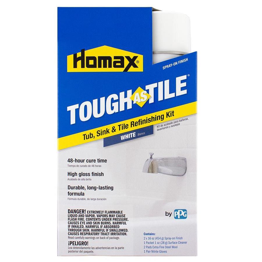 tough as tile white high gloss tub and tile resurfacing kit lowes com