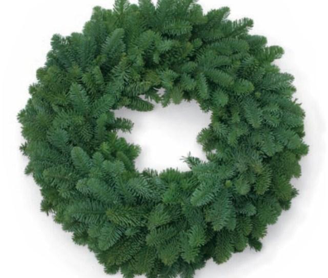 In Fresh Noble Fir Christmas Wreath