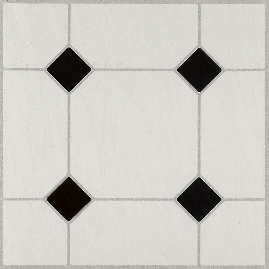 armstrong flooring black white 12 in x 12 in water resistant peel and stick vinyl tile 45 sq ft