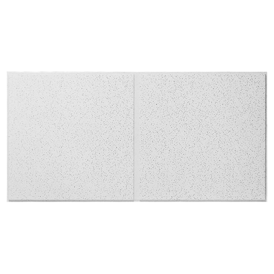 armstrong ceilings 48 in x 24 in fine fissured second look 10 pack white fissured 15 16 in drop acoustic panel ceiling tiles lowes com