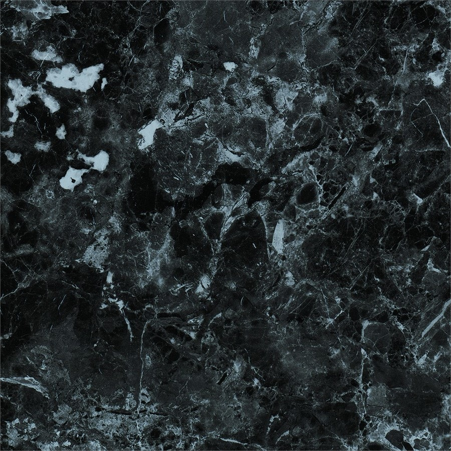 style selections ebony marble 12 in x 12 in water resistant peel and stick vinyl tile 1 sq ft