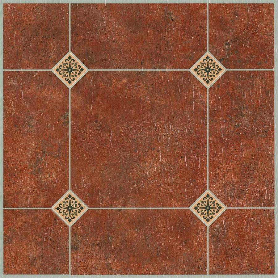 style selections adobe 12 in x 12 in water resistant peel and stick vinyl tile 1 sq ft