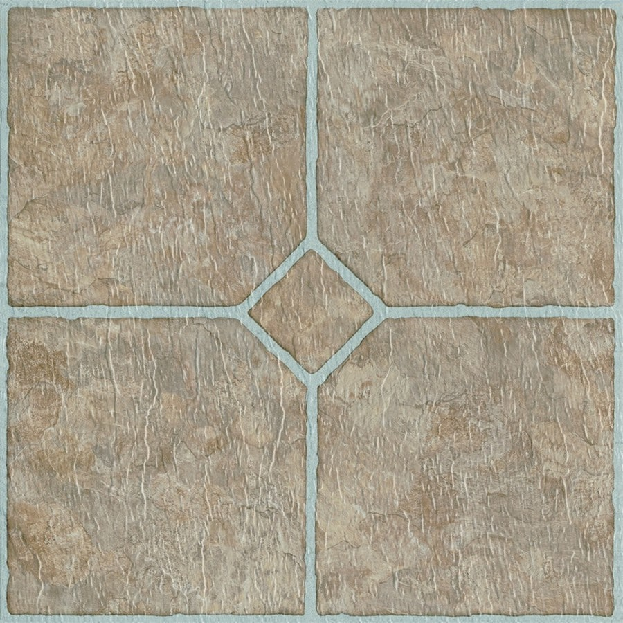 style selections chatsworth mosaic 12 in x 12 in water resistant peel and stick vinyl tile 1 sq ft