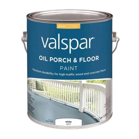 Valspar White Gloss Interior Exterior Porch And Floor Paint Actual Net Contents 128