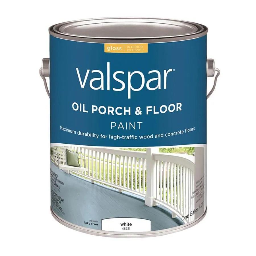 Exceptional Valspar White Gloss Interior Exterior Porch And Floor Paint