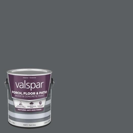 Valspar Dark Gray Satin Interior Exterior Anti Skid Porch And Floor Paint Actual