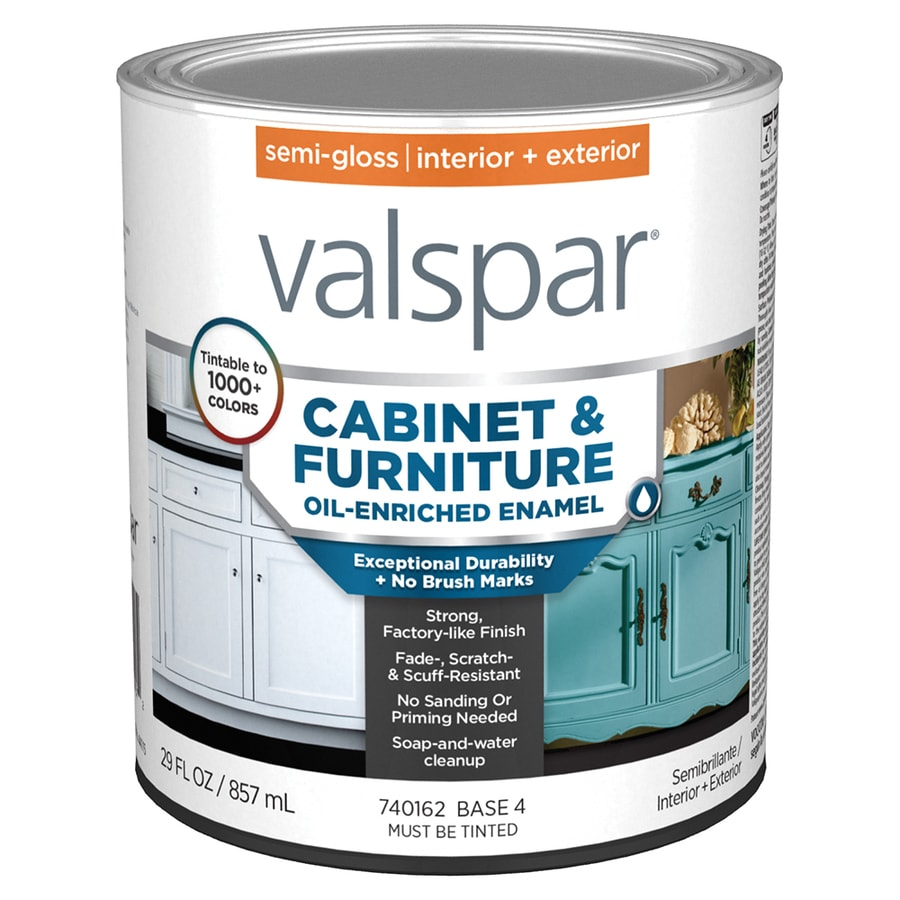 valspar cabinet enamel base 4 semi gloss latex tintable on valspar paint id=43236